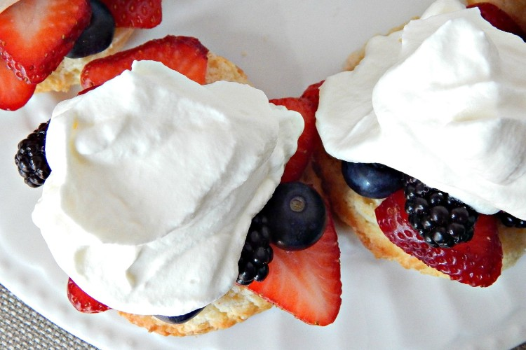 Sweet Berry Shortcakes Recipe