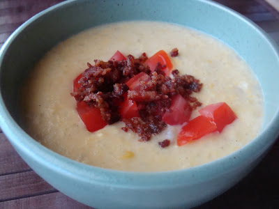 Bacon-Topped Corn Chowder