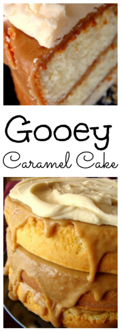 pin image gooey caramel cake on www.sugarbananas.com