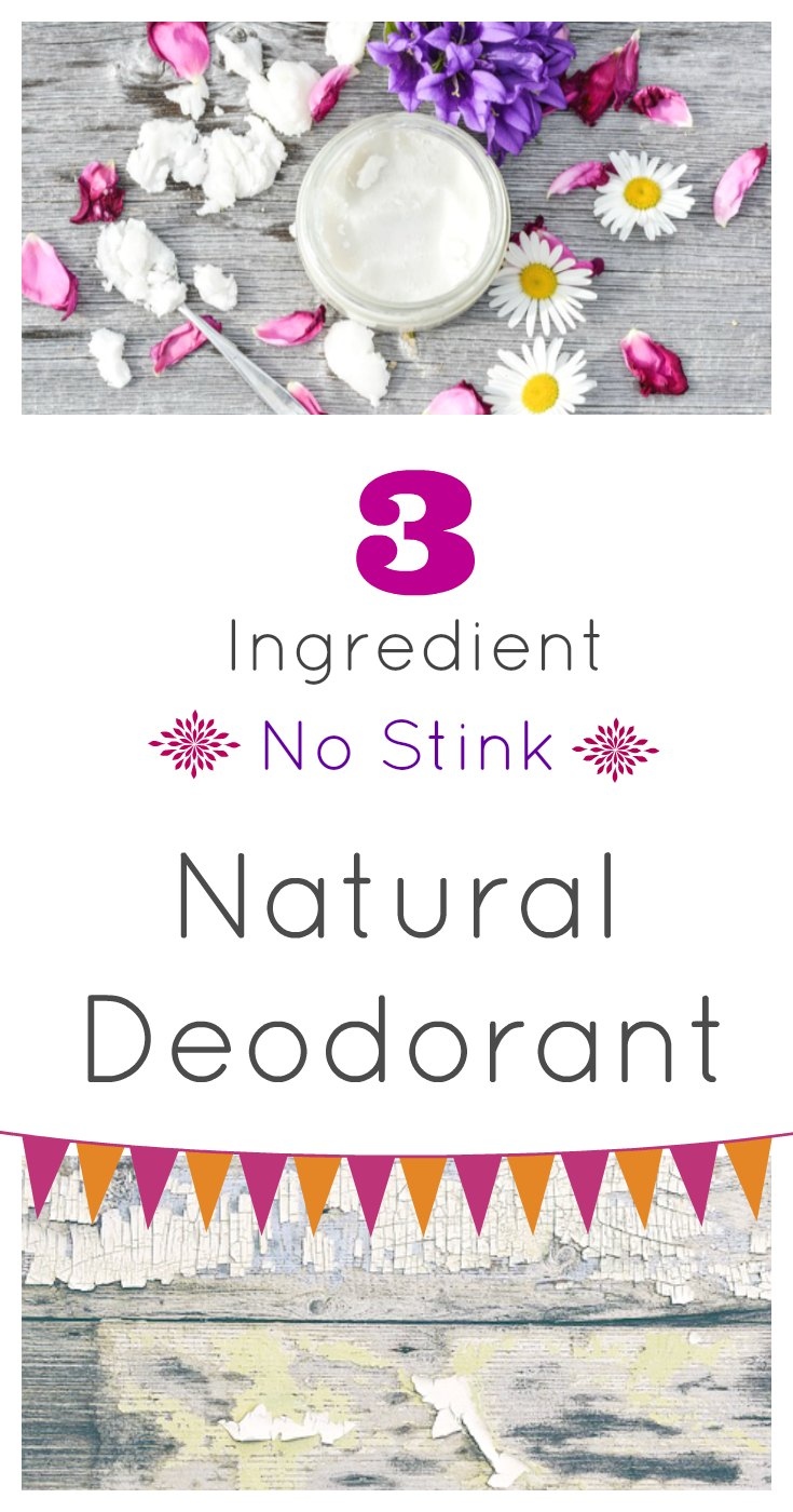 3 Ingredient No Stink Natural Deodorant from sugar bananas
