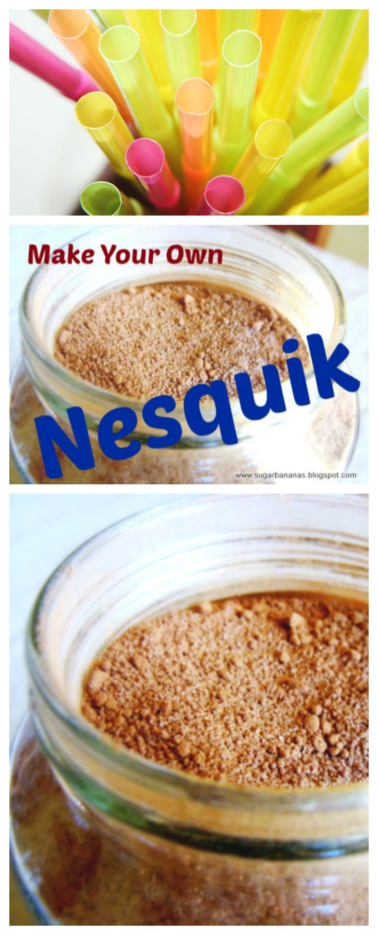 Homemade Nesquik on www.sugarbananas.com