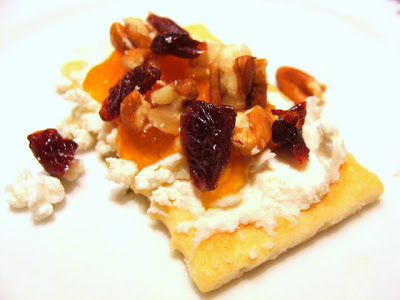 Cherry Apricot Chevre Topping