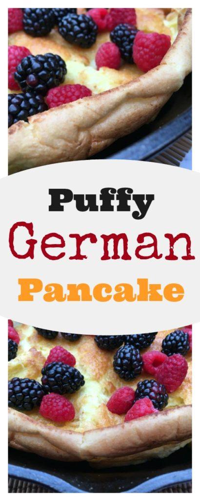 Puffy German Pancake on www.sugarbananas.com Sugar Bananas