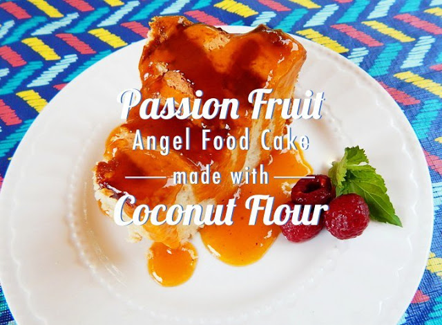 Coconut Passion Fruit Angel Cake