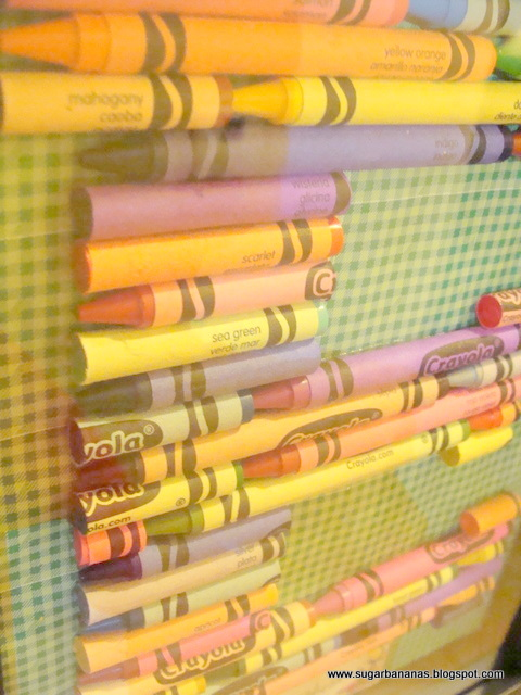Crayon Monogram Teacher Gift