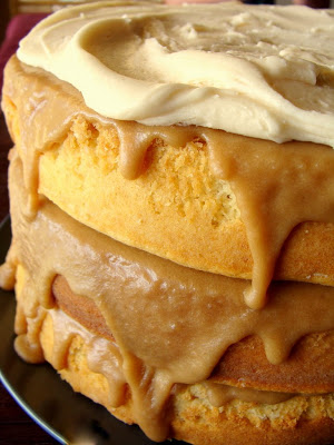 Gooey Layered Caramel Cake