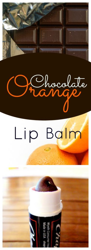 chocolate orange lip balm pinterest