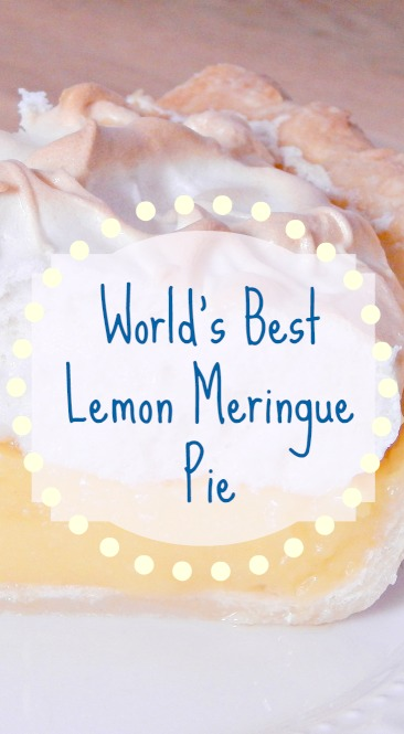 PinterestPinable Image of Lemon Meringue pie at SugarBananas.com