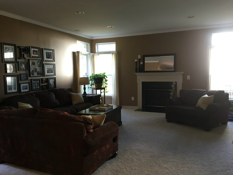 How To Paint A Room Living Room Before Sherwin Williams Kilim Beige With  Wagner SMART Paint