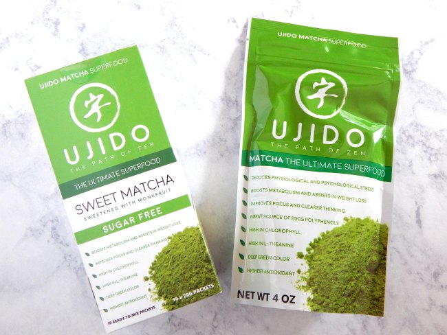 Ujido matcha tea on www.sugarbananas.com