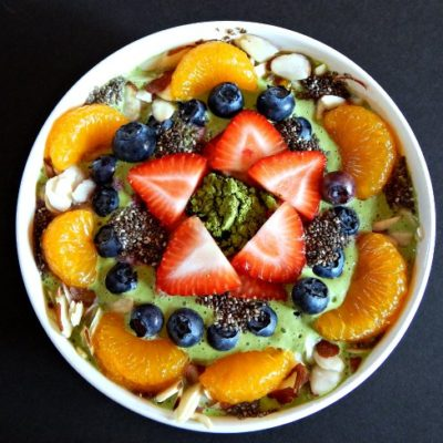 Matcha Smoothie Bowl on www.sugarbananas.com