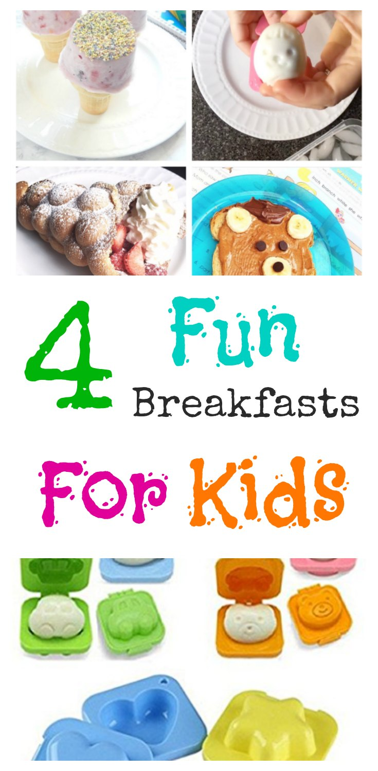 4 Fun Kids' Breakfasts on www.sugarbananas.com