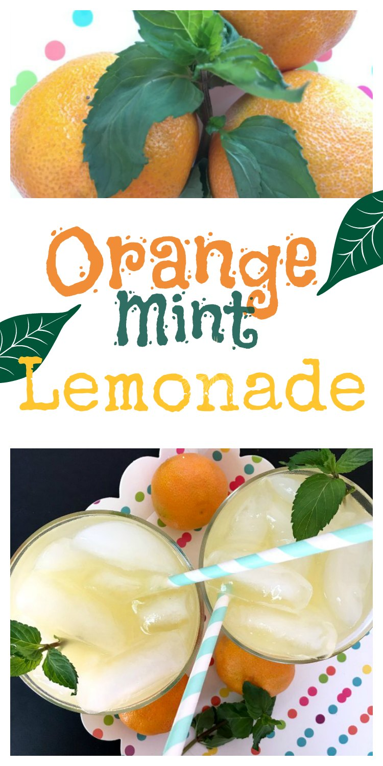 Orange Peppermint Lemonade at www.sugarbananas.com