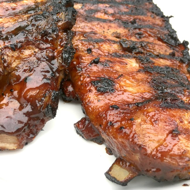 Smithfield Pork Rib Bone Quick Grilled BBQ Ribs on www.sugarbananas.com
