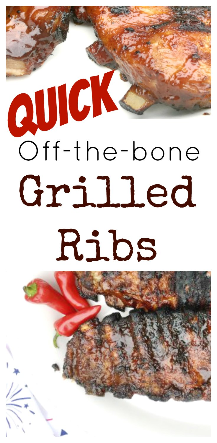 Quick, Falling Off the Bone Quick Grilled BBQ Ribs from www.sugarbananas.com