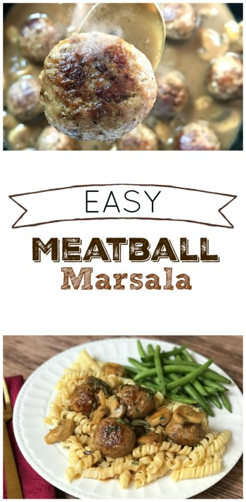 Easy Meatball Marsala from Sugar Bananas