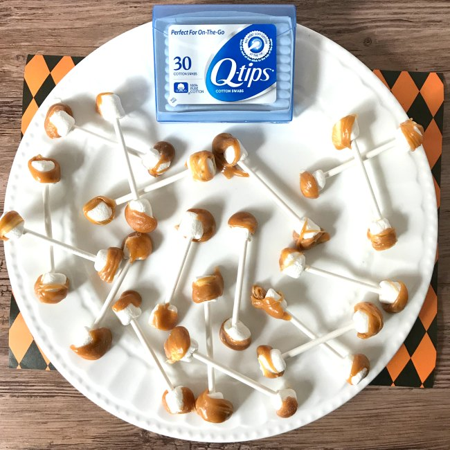 dirty qtips Halloween Party Food Ideas from Sugar Bananas