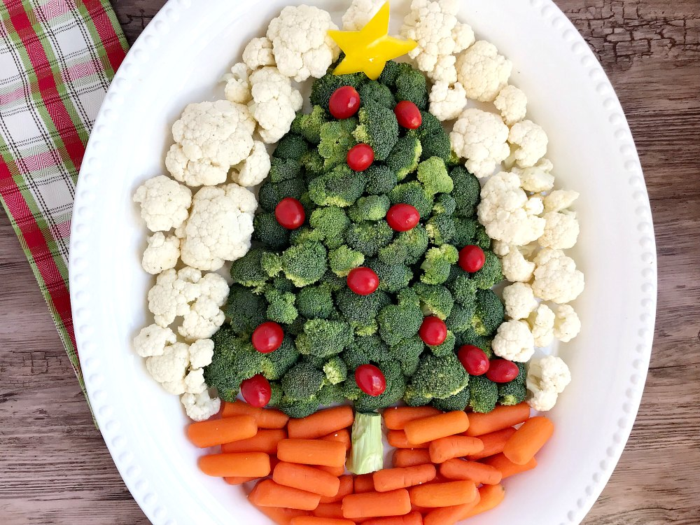 Christmas Veggie Tray.Christmas Party Buffet Food Ideas