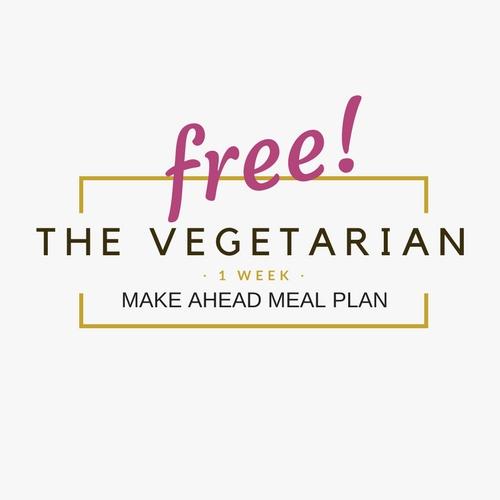 free vegetarian make ahead meal plan from sugarbananas.com