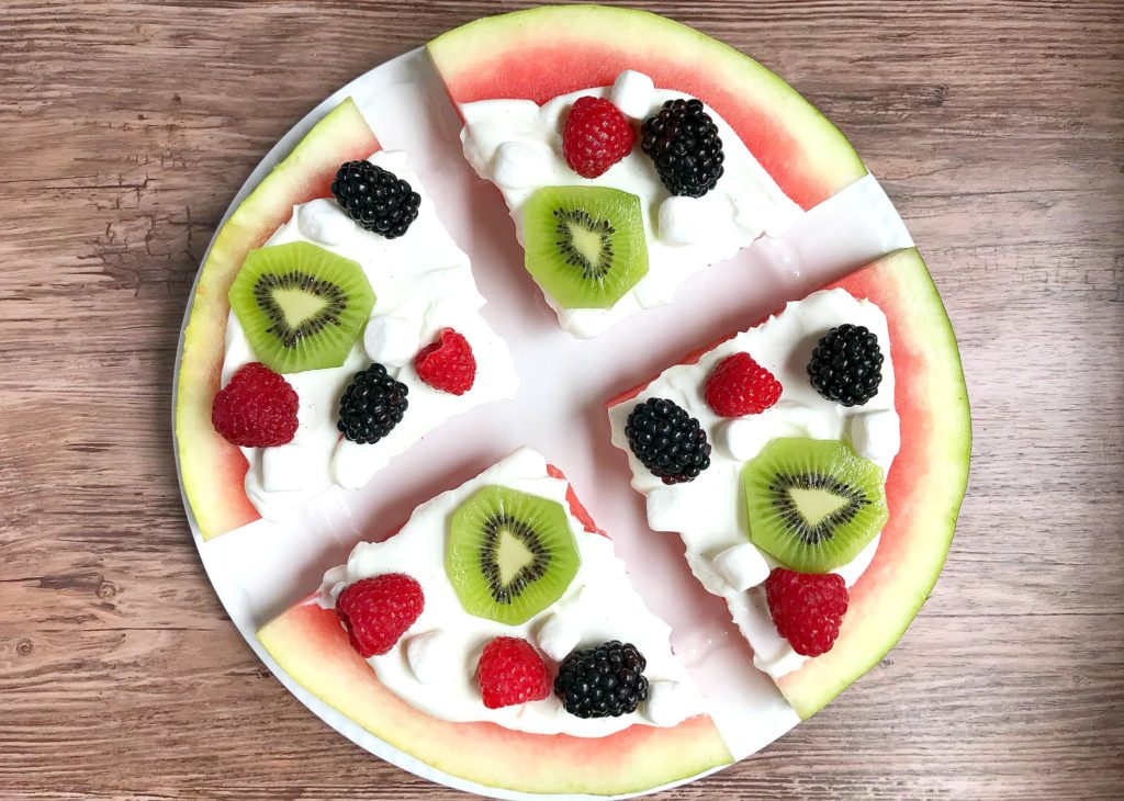 fun summer snack ideas watermelon pizza from sugar bananas