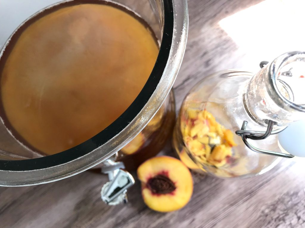 How to make kombucha sugarbananas peaches