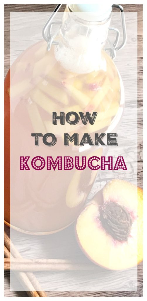 how to make kombucha from sugarbananas peach